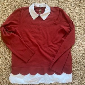 Cozy collared fall sweater